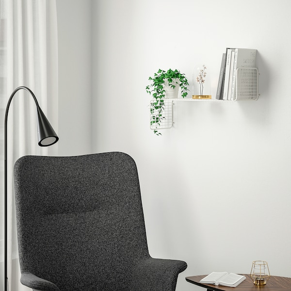SVENSHULT Scaffale da parete, bianco, 60x20 cm
