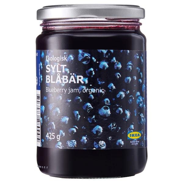SYLT BLÅBÄR Confettura extra di mirtilli neri, biologico, 425 g