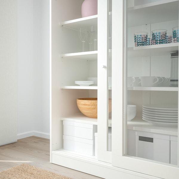 Mobile Bagno Ante Scorrevoli Ikea.Syvde Mobile Con Ante A Vetro Bianco Ikea