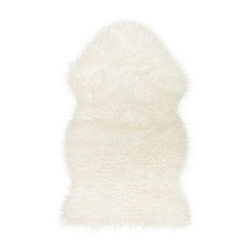 TEJN Tappeto di pecora artificiale, bianco