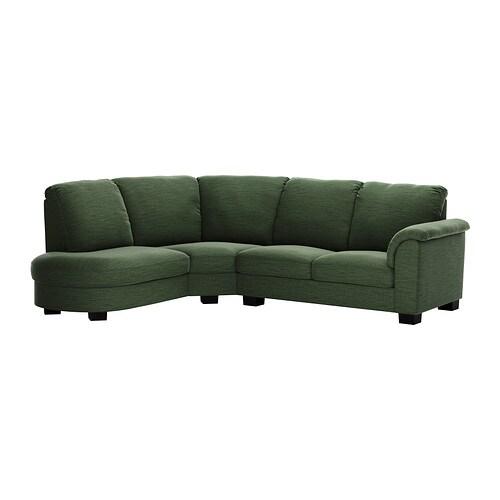 Tidafors divano angolare bracciolo destro hensta verde - Divano verde ikea ...