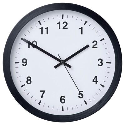TJALLA Orologio da parete, nero, 28 cm