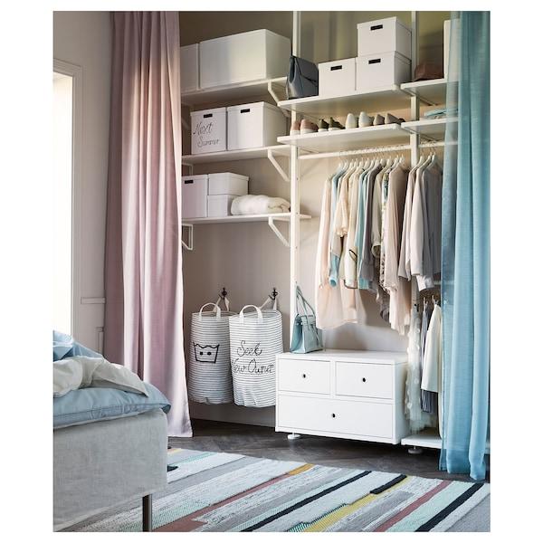TJENA Scatola con coperchio, bianco, 25x35x20 cm