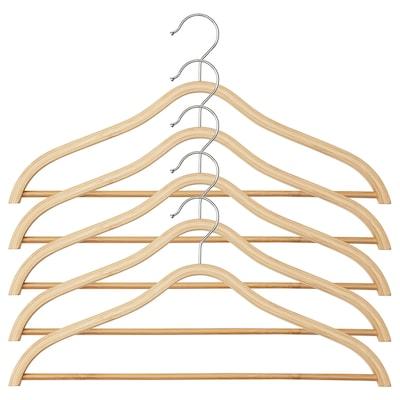 TJENARE Gruccia curvata, bambù, 5 pezzi