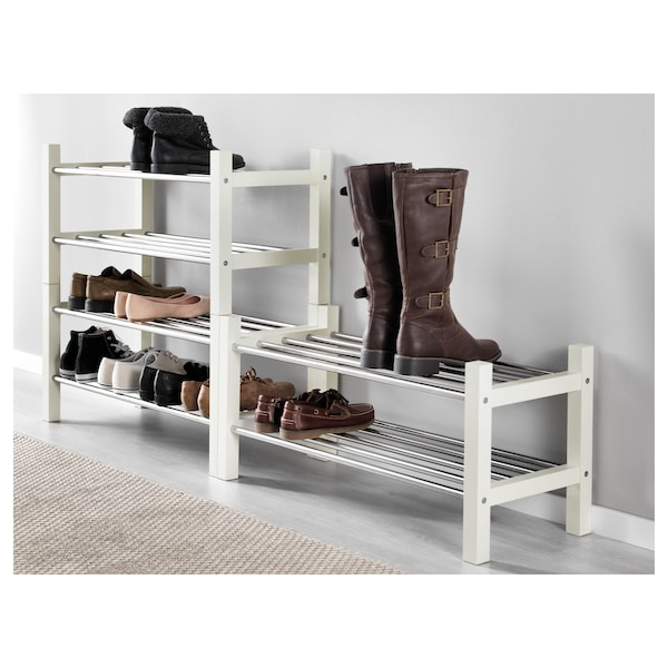 TJUSIG Rastrelliera per scarpe, bianco, 79x32x37 cm