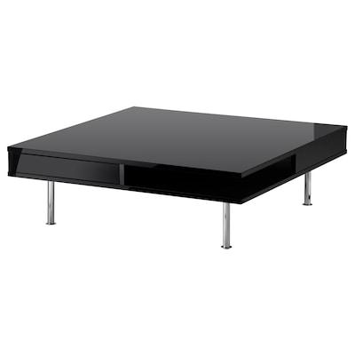 TOFTERYD tavolino lucido nero 95 cm 95 cm 31 cm