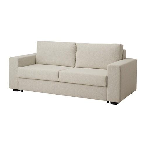 Tolbo divano letto a 2 posti gunnared beige ikea for Divano 2 posti ikea