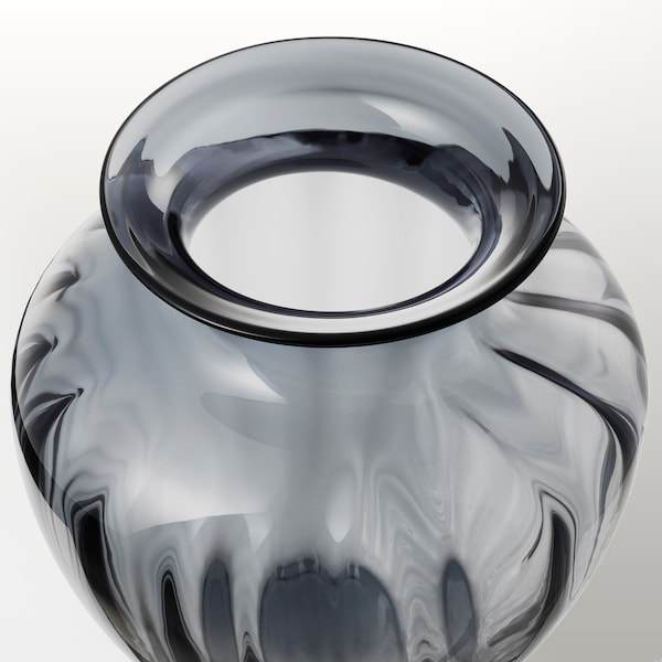 TONSÄTTA Vaso, grigio, 27 cm