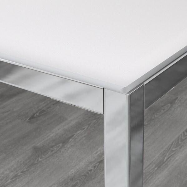 Tavolo Vetro E Acciaio Ikea.Torsby Tavolo Cromato Vetro Bianco Scopri I Dettagli Del