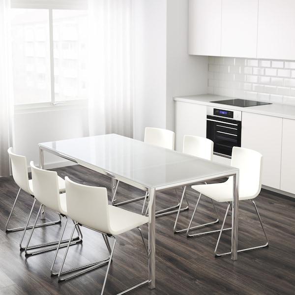 Torsby Tavolo Cromato Vetro Bianco Scopri I Dettagli Del Prodotto Clicca Qui Ikea It