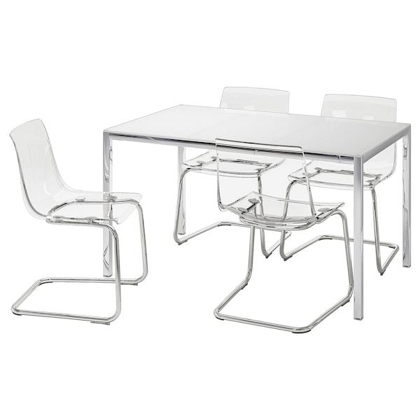 Torsby Tobias Tavolo E 4 Sedie Vetro Bianco Trasparente Ikea It
