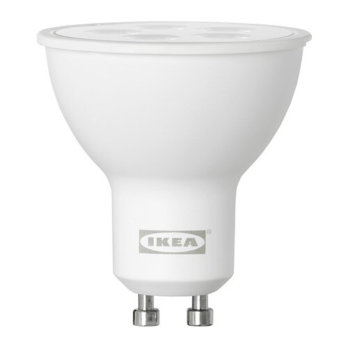 Tr dfri lampadina led gu10 400 lumen ikea for Lampadine led ikea