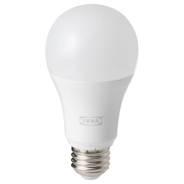 TRÅDFRI lampadina LED E27 1000 lumen intensità regolabile wireless spettro bianco/globo bianco opalino 1000 lm 2700 K 12 cm 6 mm 11 W