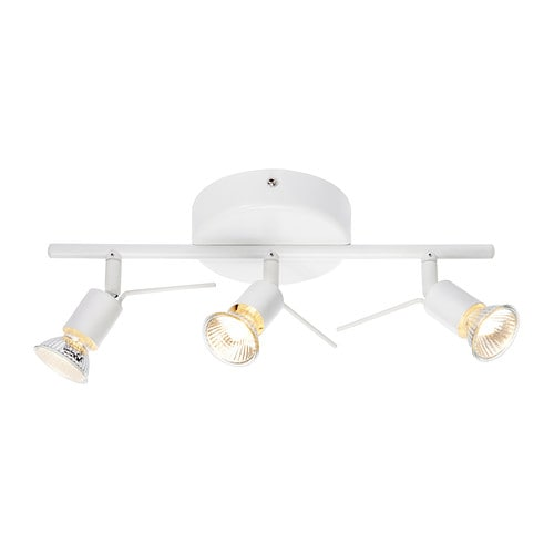 TROSS Binario da soffitto, 3 faretti - - IKEA