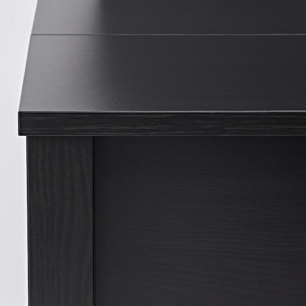 TRULSTORP Tavolino, marrone-nero, 115x70 cm