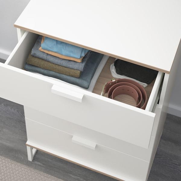 TRYSIL Cassettiera con 4 cassetti, bianco/grigio chiaro, 60x99 cm