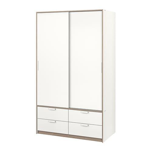 Armadio Ante Scorrevoli Ikea Opinioni.Trysil Guardaroba Ante Scorrev 4 Cassetti Bianco Ikea