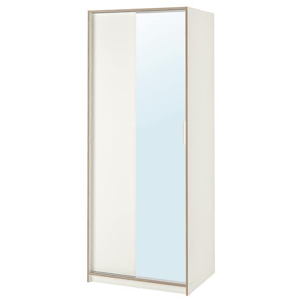 Armadio Con Specchio Ikea.Trysil Guardaroba Bianco Vetro A Specchio 79x61x202 Cm Ikea It