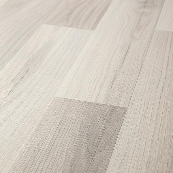 TUNDRA Pavimento in laminato, effetto rovere grigio chiaro/bianco, 2.25 m²