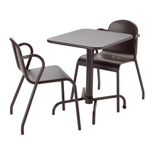 Tunholmen tavolo 2 sedie da giardino marrone scuro ikea for Sedie sala attesa ikea