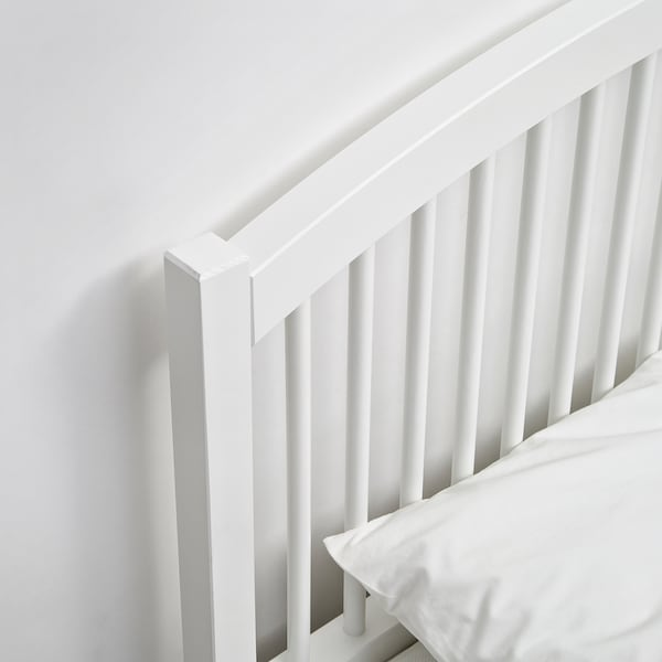 TYSSEDAL Struttura letto, bianco/Lönset, 140x200 cm