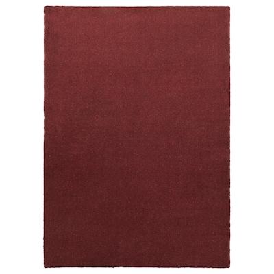 TYVELSE Tappeto, pelo corto, rosso scuro, 170x240 cm