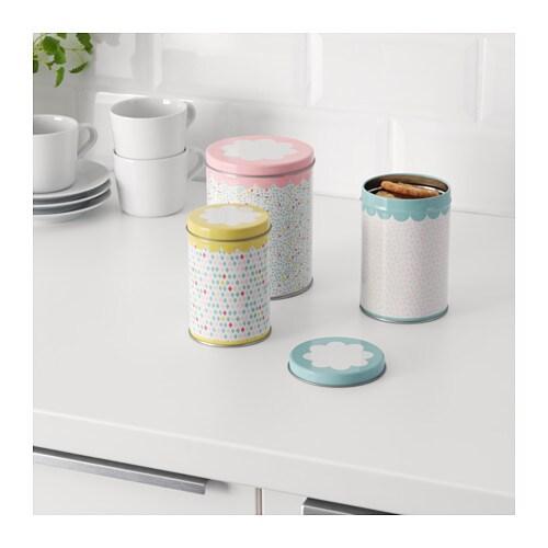 UDDIG Set di 3 barattoli con coperchio - IKEA