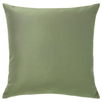 ULLKAKTUS Cuscino, verde oliva, 50x50 cm