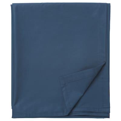 ULLVIDE Lenzuolo, blu scuro, 240x260 cm