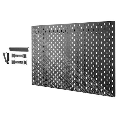 UPPSPEL Combinazione pannello portaoggetti, nero, 76x56 cm