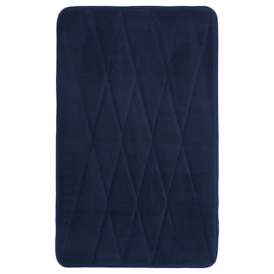 UPPVAN Tappeto per bagno, blu scuro, 50x80 cm