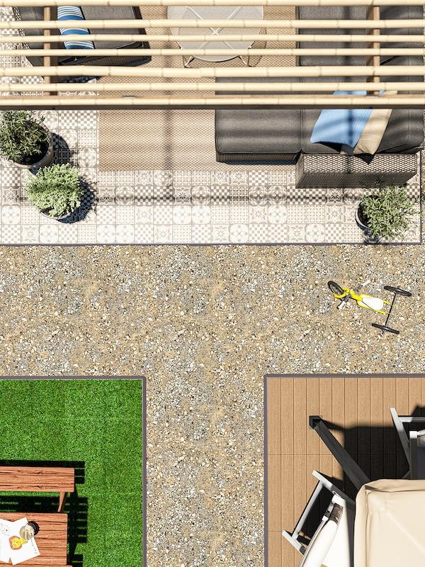 UTLÄNGAN Pedana da esterno, marrone, 0.90 m²