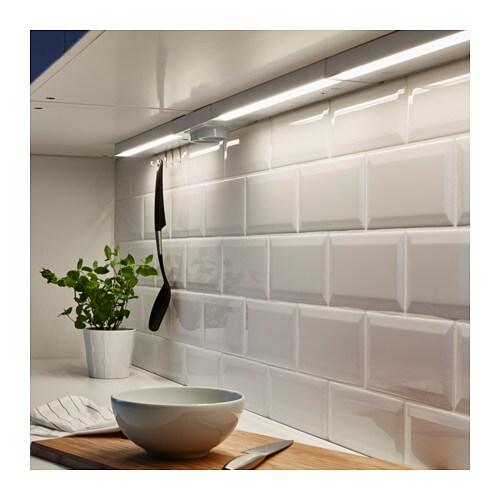 UTRUSTA Illuminazione sottopensile a LED - color alluminio, 40 cm - IKEA