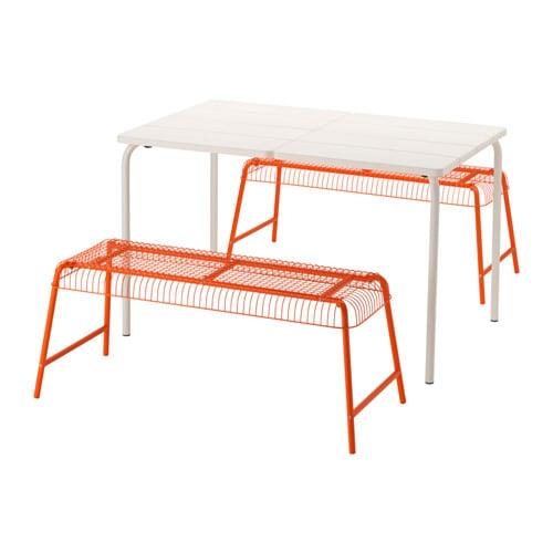 V dd v ster n tavolo 2 panche da giardino ikea for Ikea panchina esterno