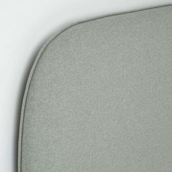 VADHEIM Struttura letto imbottita, Gunnared verde chiaro, 160x200 cm