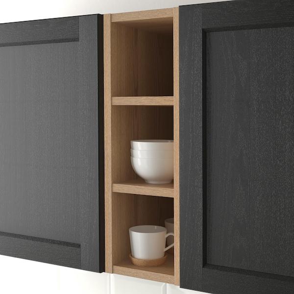 VADHOLMA Scaffale, marrone/frassino trattato con mordente, 20x37x60 cm