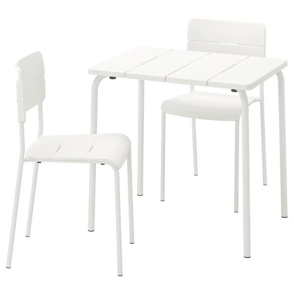 Come Pulire Le Sedie Di Plastica Da Giardino.Vaddo Tavolo 2 Sedie Da Giardino Bianco Ikea