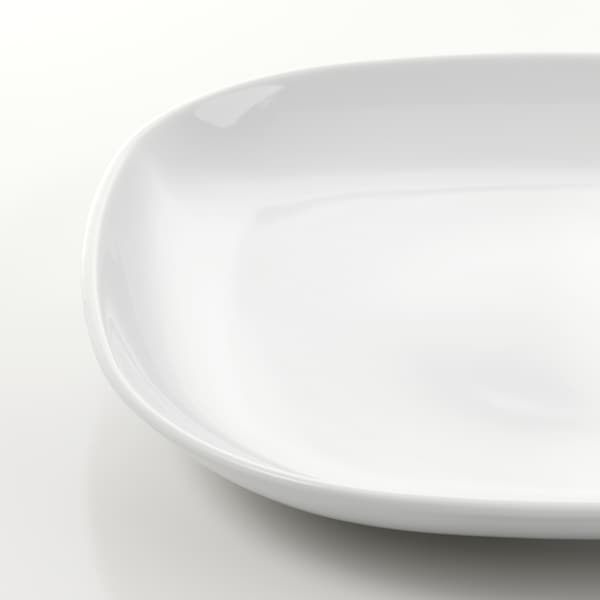 VÄRDERA Piatto, bianco, 25x25 cm