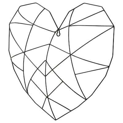 VÄTTLÖSA Decorazione da parete, cuore nero, 44x40 cm