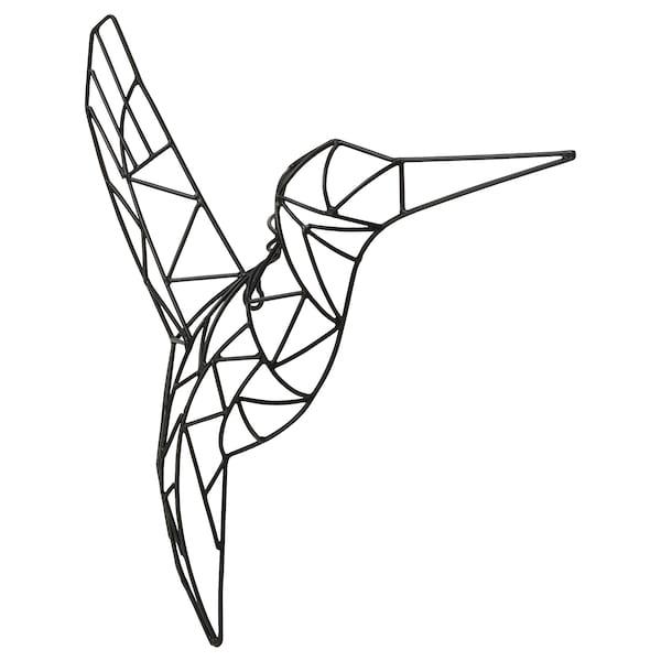 VÄTTLÖSA Decorazione da parete, uccellino nero, 36x39 cm