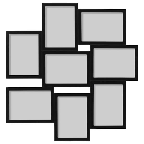 VÄXBO Cornice per 8 fotografie, nero, 13x18 cm
