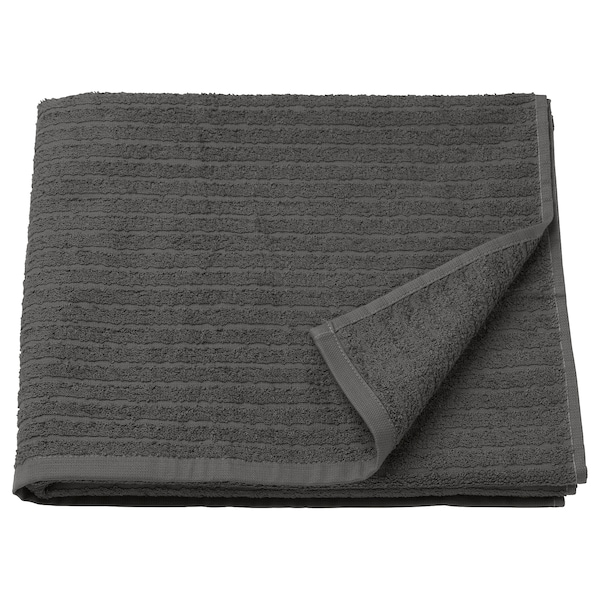 VÅGSJÖN Asciugamano, grigio scuro, 70x140 cm