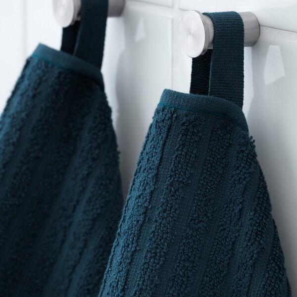VÅGSJÖN Asciugamano ospite, blu scuro, 30x50 cm