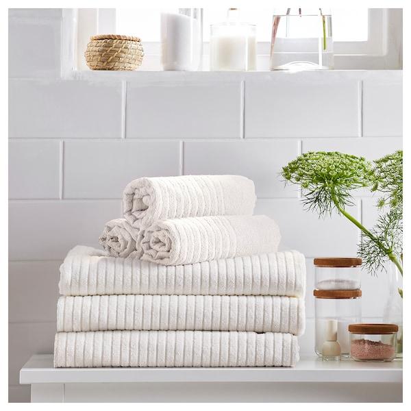 VÅGSJÖN Telo bagno, bianco, 100x150 cm