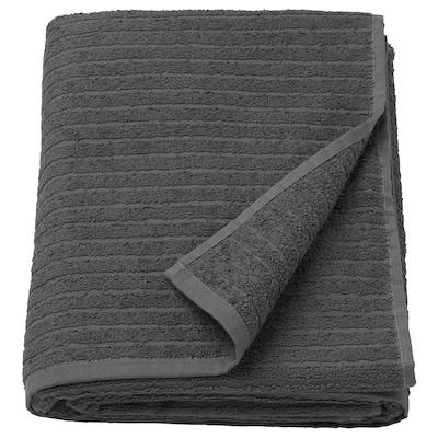 VÅGSJÖN Telo bagno, grigio scuro, 100x150 cm