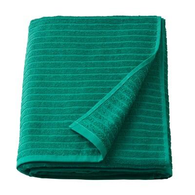VÅGSJÖN Telo bagno, verde scuro, 100x150 cm