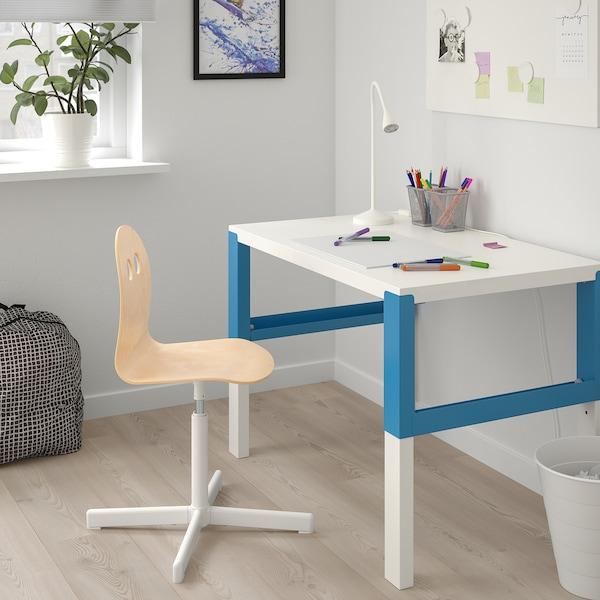 VALFRED / SIBBEN Sedia da scrivania per bambini, betulla/bianco