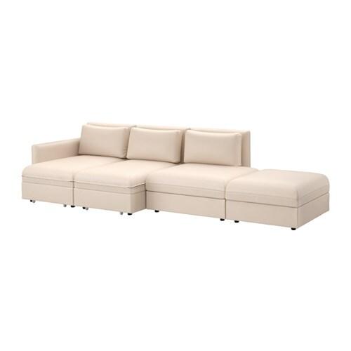 vallentuna divano a 4 posti con letto murum beige ikea