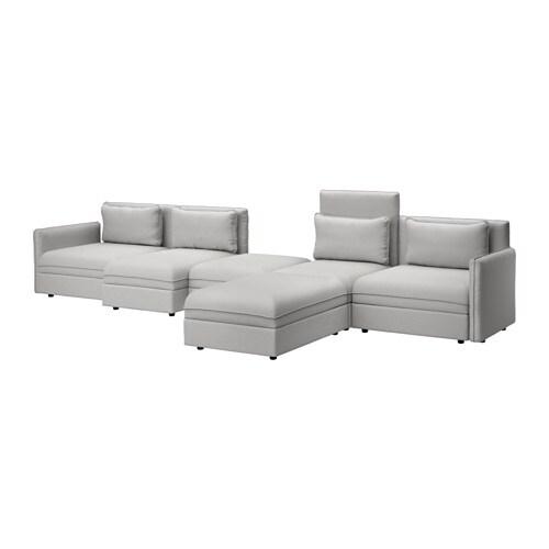 Vallentuna divano a 5 posti con letto orrsta grigio chiaro ikea - Ikea divano vallentuna ...