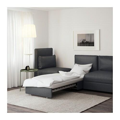 Vallentuna divano a 3 posti con letto hillared grigio - Divano letto 3 posti ikea ...